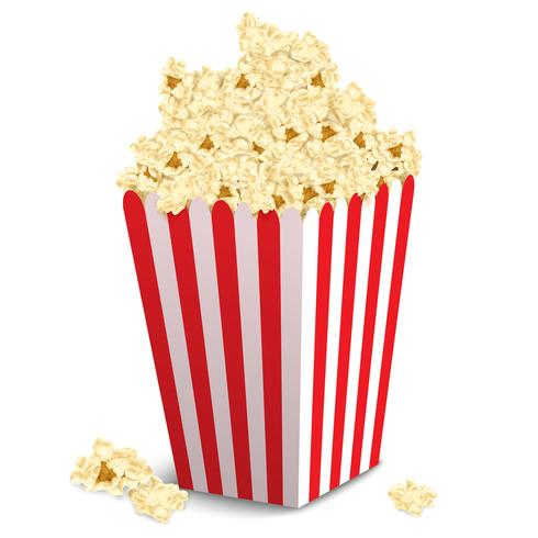 Scatola di popcorn isolata