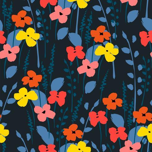 Padrão sem emenda abstrato floral. vetor