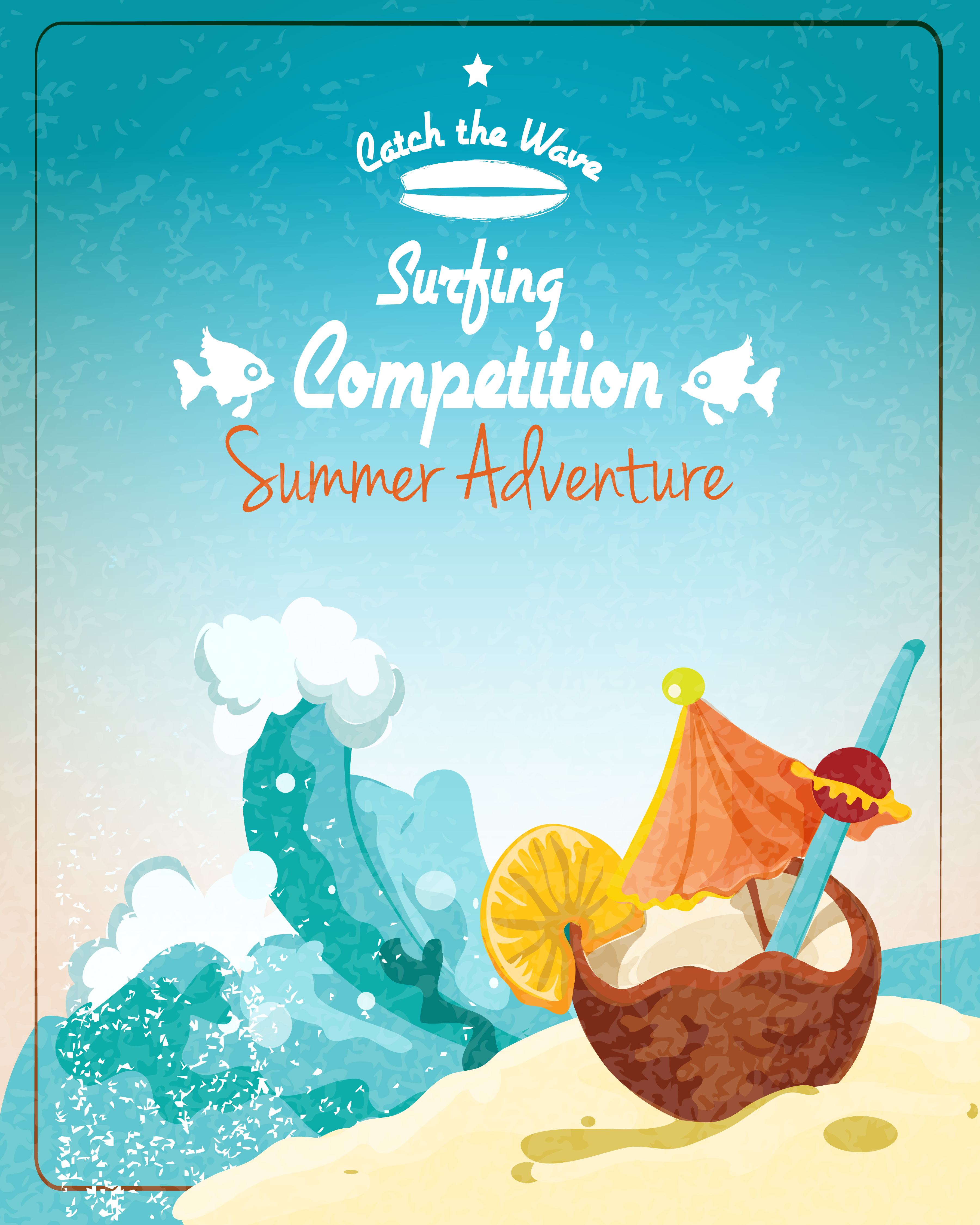 Surfing Competition Poster