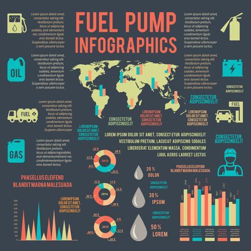 Service d'essence automatique infographie vecteur