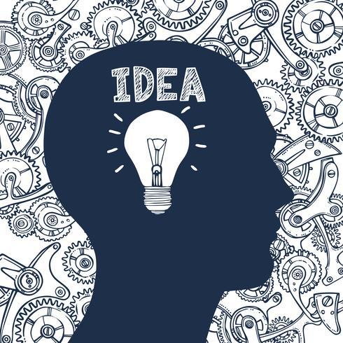 Idea uomo lampadina
