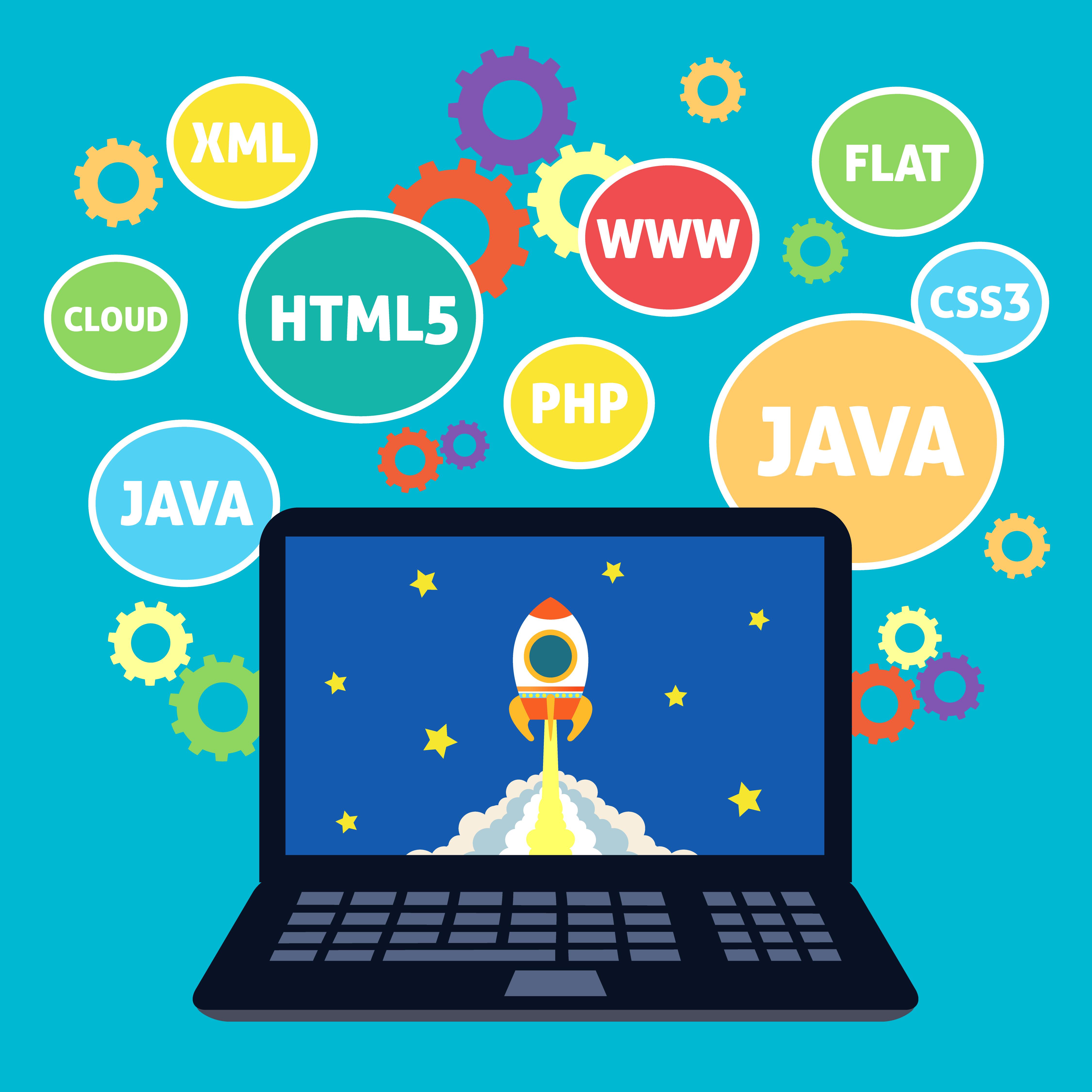 coding clipart java computer websites vector web website xml clip concept illustration html5 programming code embedded graphics illustrations part icon