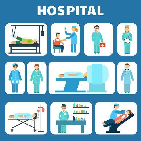 Medical flat pictograms set