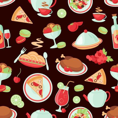Restaurante sin patrón vector