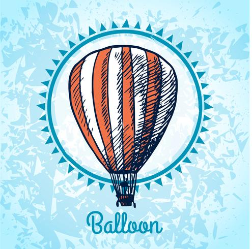 Hot air balloon poster sketch