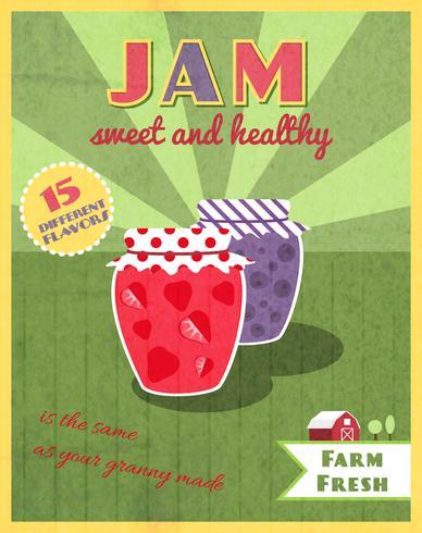 Strawberry jam glass