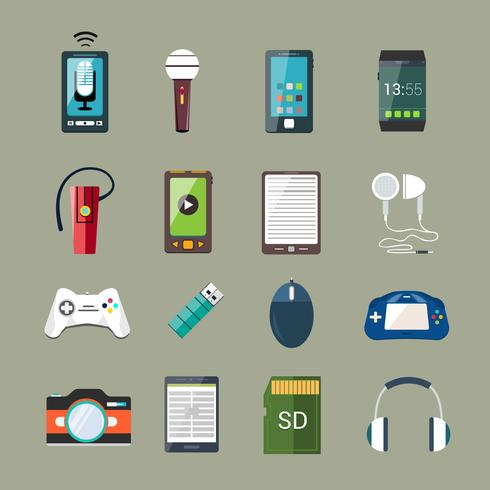Set di icone del gadget