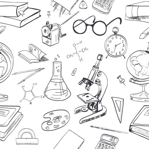Doodle di icona di educazione senza giunte