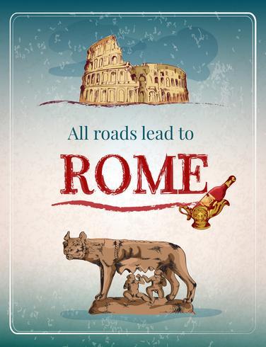 Retro affiche van Rome