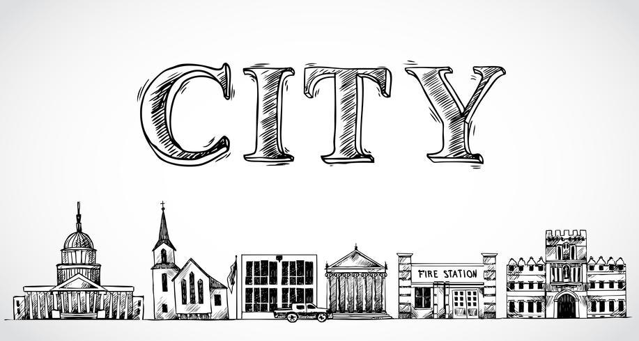 Ciudad de fondo de la ciudad vector
