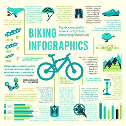 Bike icons infographic