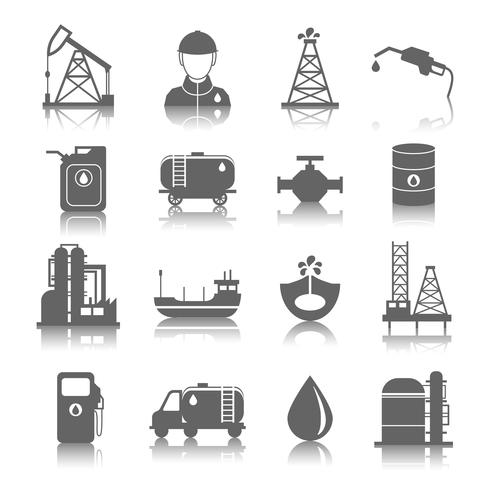 Icone dell'industria petrolifera vettore