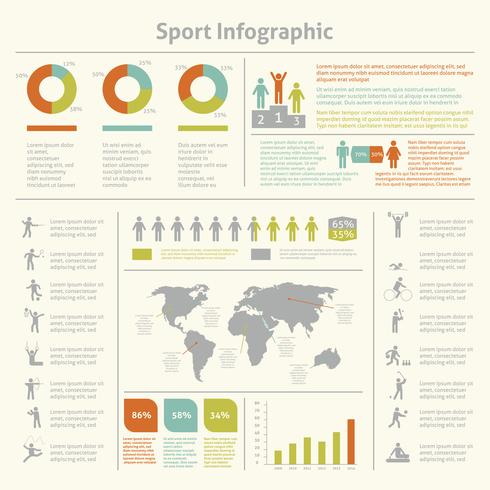 Sport infographic mall diagram