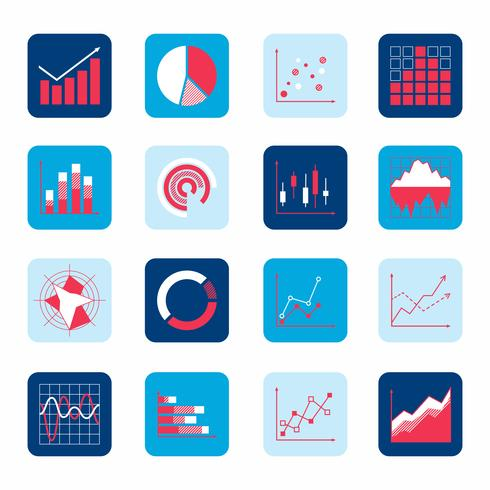 Business chart icons