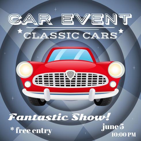 Retro auto evenement poster
