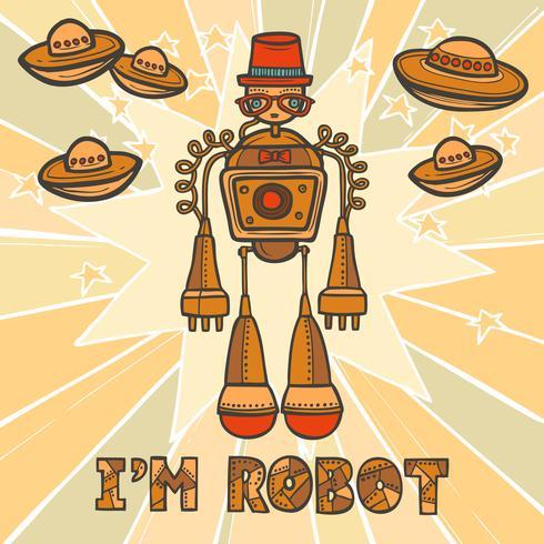 Diseño de robot inconformista vector