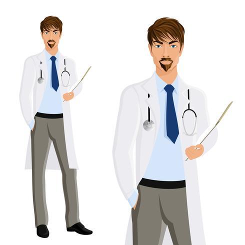 Retrato de hombre médico vector