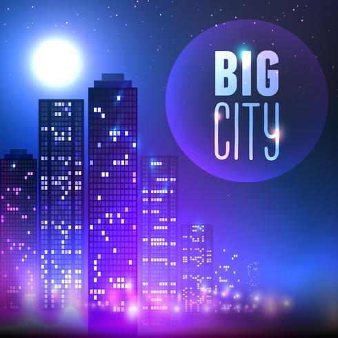 Ciudad de noche vector