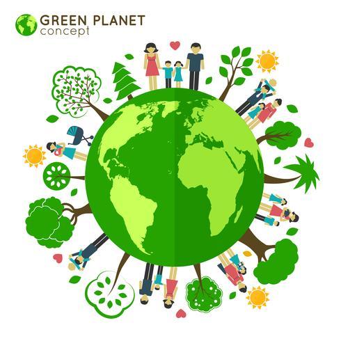 Ecologia de globo familiar vetor