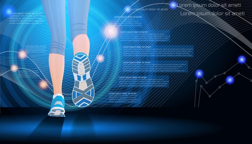 Fundo de esporte de tecnologia vetor