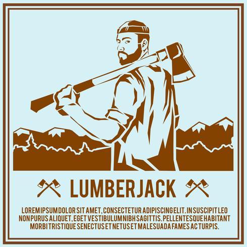 Lumberjack woodcutter affisch