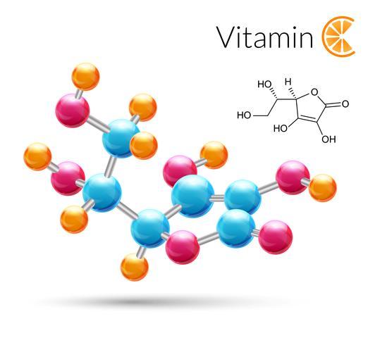 C-vitaminmolekyl vektor