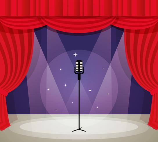 Stage con microfono vettore