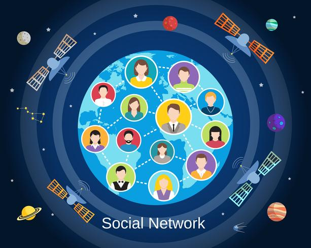 Globalt socialt nätverkskoncept