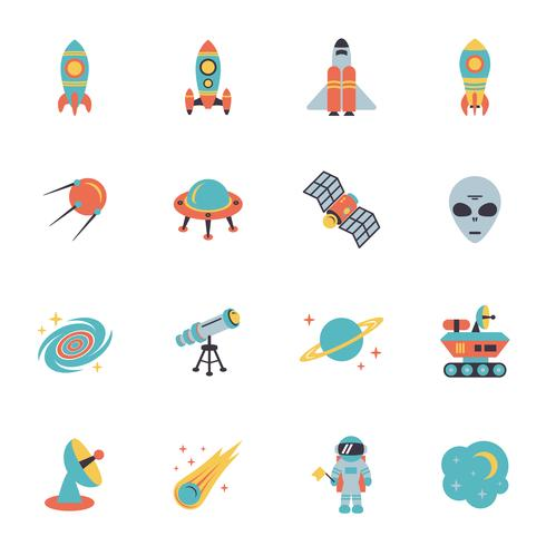 Conjunto de ícones do espaço vetor
