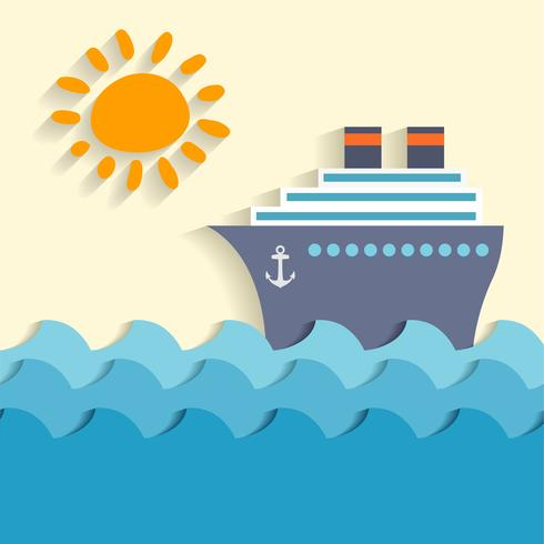Cartaz de desenhos animados do mar