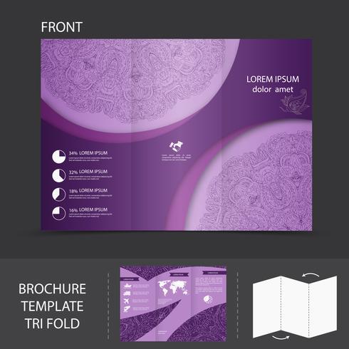 Purple brochure template vector