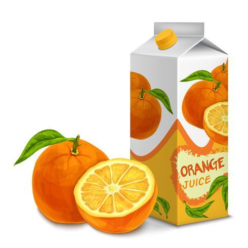 Juice pack laranja vetor