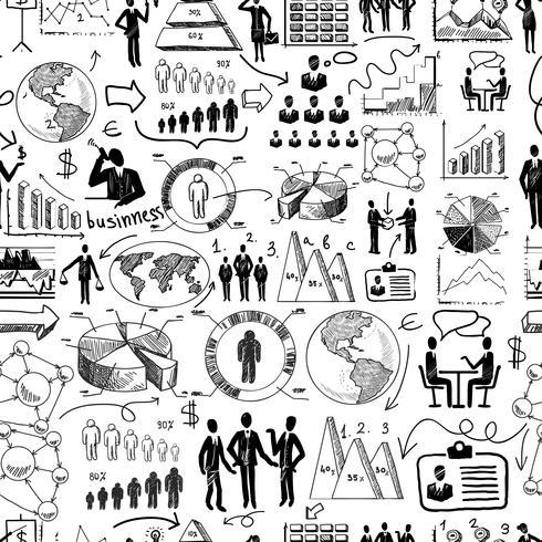 Sketch negocio sin fisuras vector