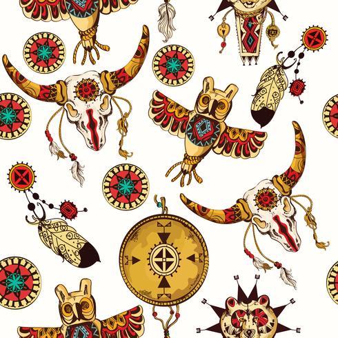 Stammes-nahtloser Hintergrund vektor