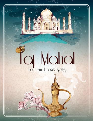 Affiche rétro Taj Mahal
