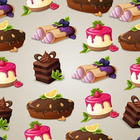 Modello senza cuciture dolce dolci
