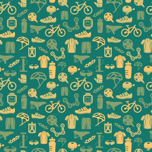 Patrón sin costuras de bicicleta vector