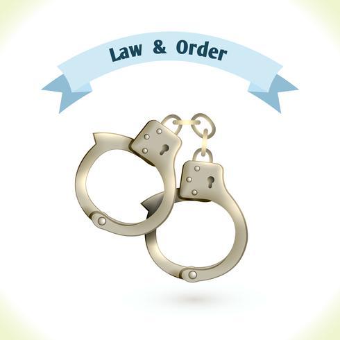 Law icon handcuffs