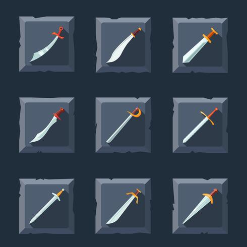 Schwert-Icon-Set