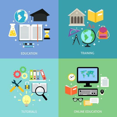 Conceito de educação de negócios vetor