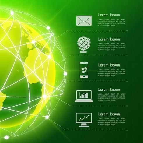 Fundo verde de rede vetor