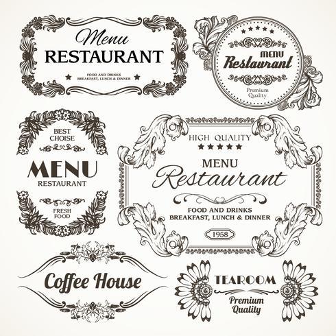 Blommor restaurang etiketter