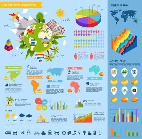 Reizen platte infographic