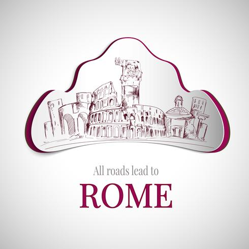 Emblème de la ville de Rome vecteur