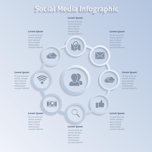 Réseaux sociaux de conception infographique
