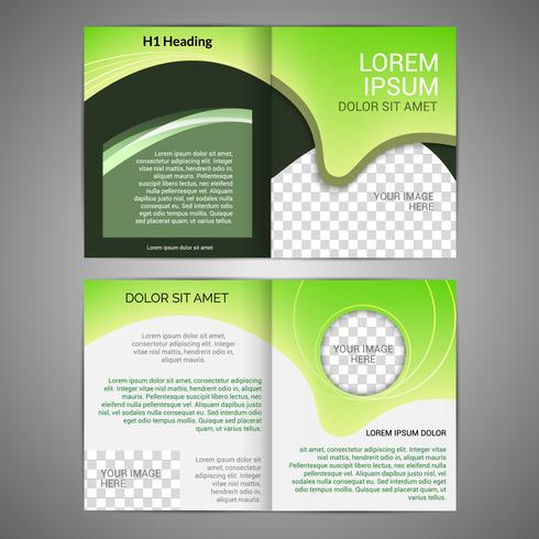 Modelo de design de brochura vetor