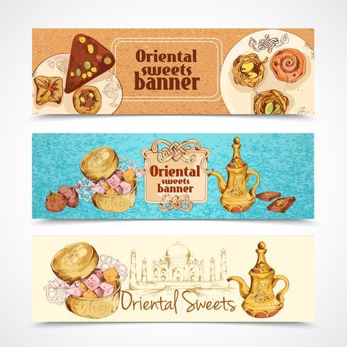 Banner di dolci orientali