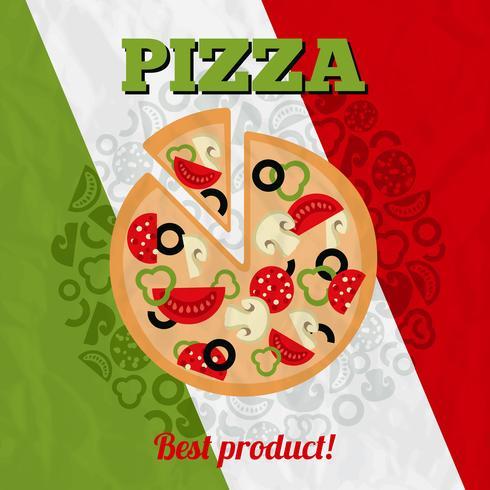 Cartaz de pizza de Itália