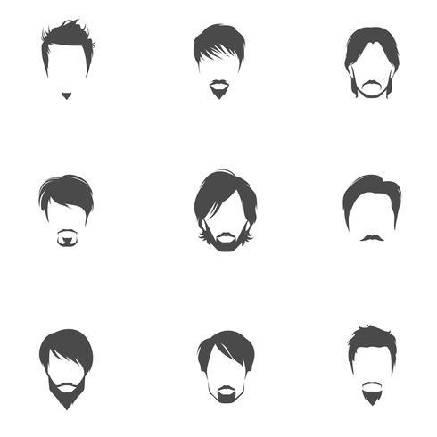Conjunto de peinados hombre vector