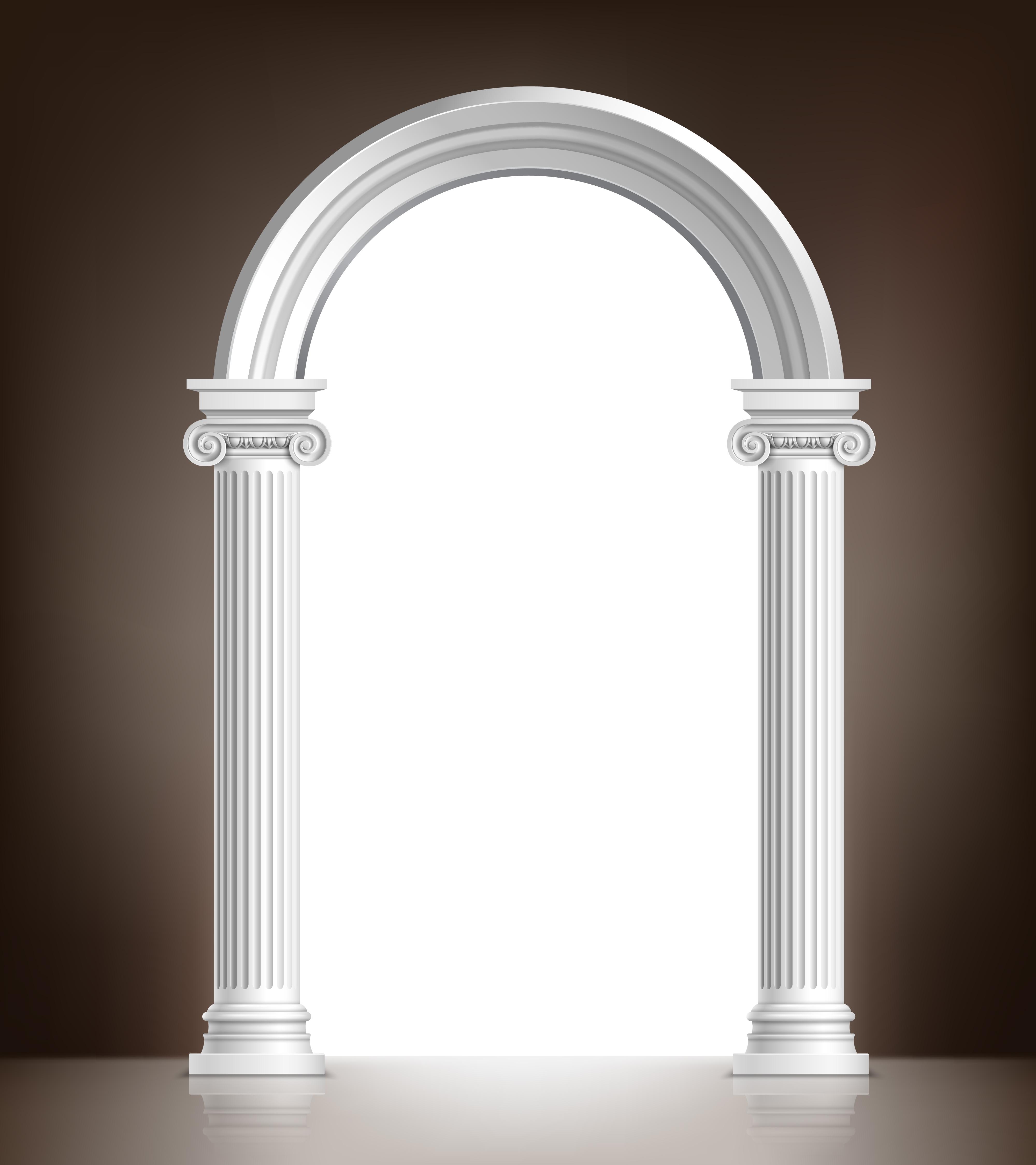 Realistic White Arch Download Free Vectors Clipart